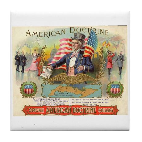 American Doctrine Cigar Art Tile Coaster