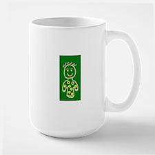 Green Cute Smiling Girl 47 Designer Mugs
