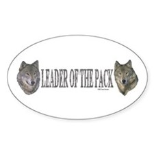 Leader of the pack Oval Decal