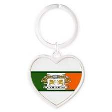 Cute Irish bumper Heart Keychain