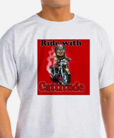Ride with Cattitude T-Shirt