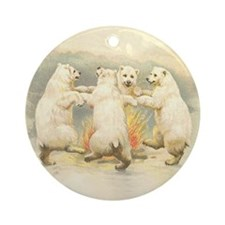 Dancing Bears Ornament (Round)