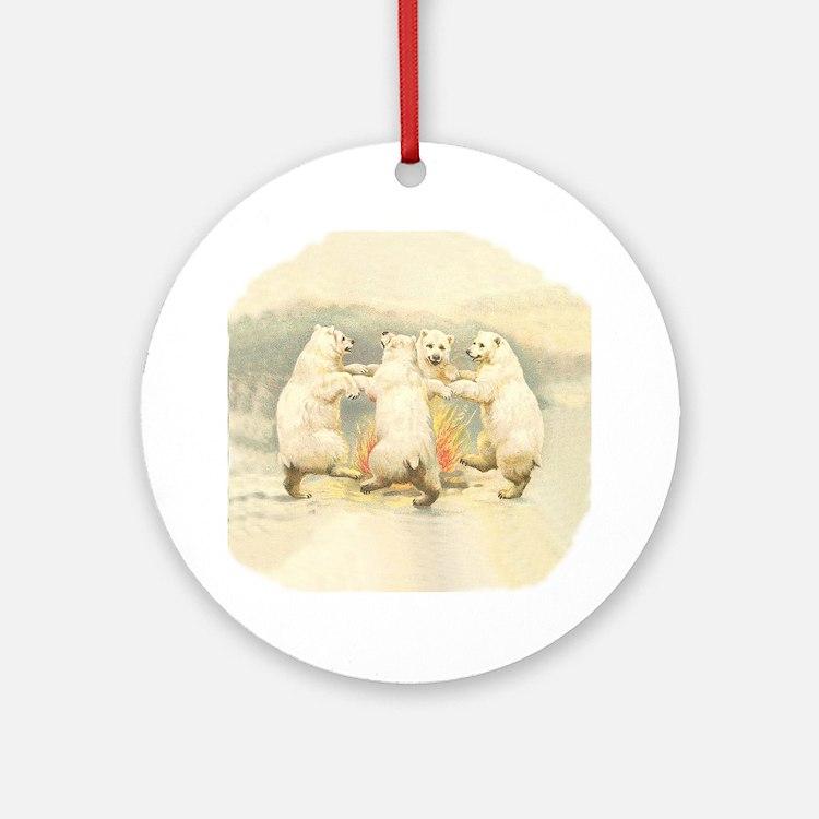 Dancing Bears Ornament (Round)