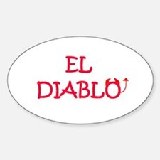 EL DIABLO Oval Decal