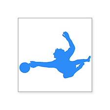 Blue Soccer Goalie Silhouette Sticker