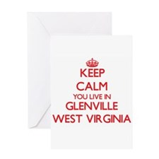 Keep calm you live in Glenville Wes Greeting Cards