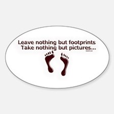 Leave nothing Oval Decal