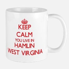 Keep calm you live in Hamlin West Virginia Mugs