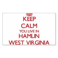 Keep calm you live in Hamlin West Virginia Decal