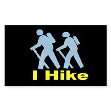 I Hike Rectangle Decal