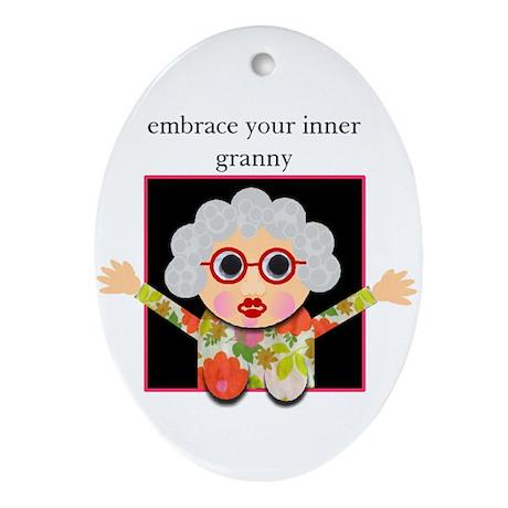 grandma Oval Ornament