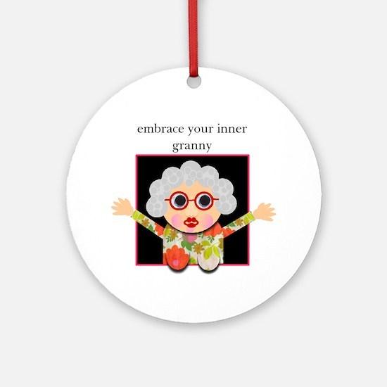 grandma Ornament (Round)