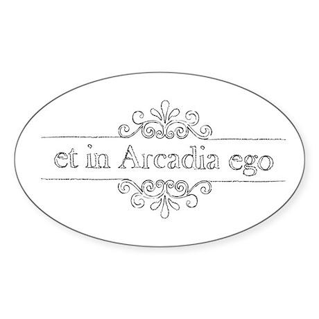 Et in Arcadia ego Oval Sticker