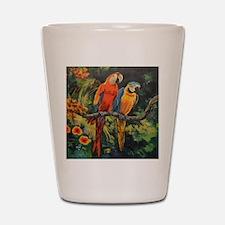 Parrots Shot Glass