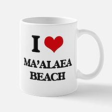 I Love Ma'Alaea Beach Mugs