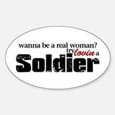 Real Woman Oval Decal