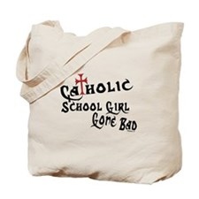 Catholic School Girl Tote Bag