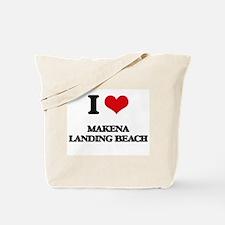 I Love Makena Landing Beach Tote Bag