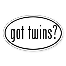 got twins? Oval Decal