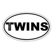Got Twins Oval Decal