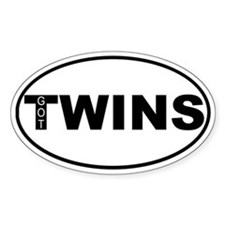 Got Twins Oval Stickers