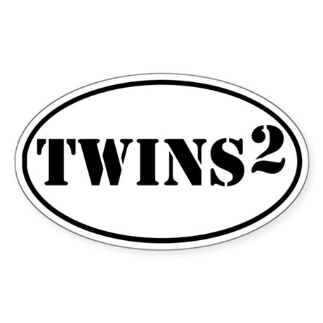 TWINS Squared Oval Sticker