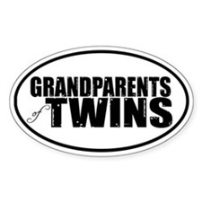 GRANDPARENTS of TWINS Oval Bumper Stickers