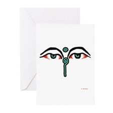 Watchful Eyes of Buddha Greeting Cards (6)