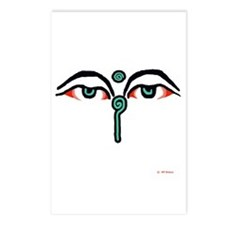 Watchful Eyes of Buddha Postcards (Package of 8)