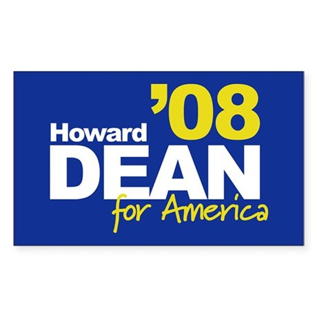 HOWARD DEAN '08 - 2008 Sticker (Rect.)