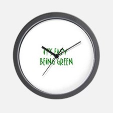 It's easy being green Wall Clock