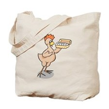 Chicken With Carton Of Eggs Tote Bag