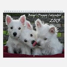 The Borgo Westie Puppy Wall Calendar