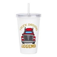 TRUCK DRIVING LEGEND Acrylic Double-wall Tumbler