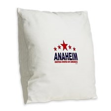 Anaheim U.S.A. Burlap Throw Pillow