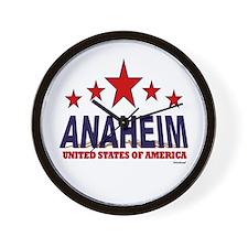 Anaheim U.S.A. Wall Clock