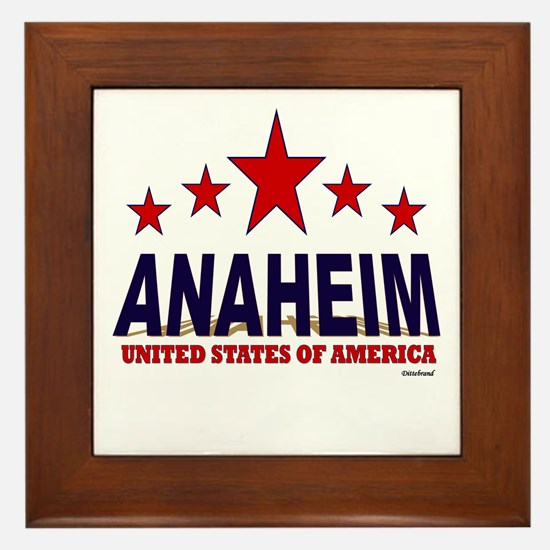 Anaheim U.S.A. Framed Tile