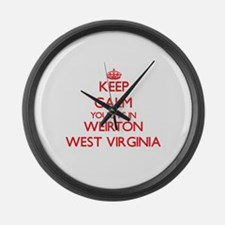 Keep calm you live in Weirton Wes Large Wall Clock