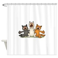 Cat Choir Shower Curtain