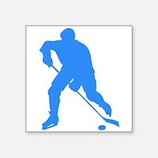 Blue Hockey Player Silhouette Sticker