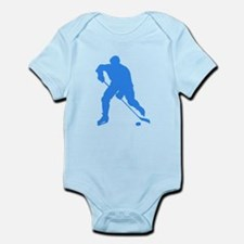 Blue Hockey Player Silhouette Body Suit