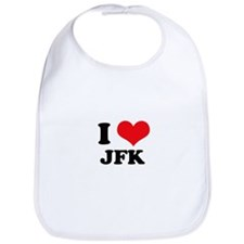 I Love JFK Bib