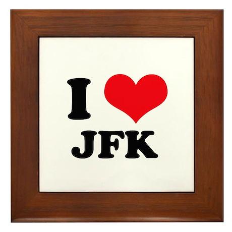 I Love JFK Framed Tile