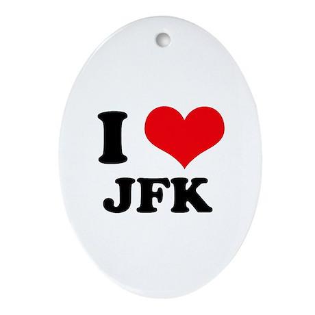 I Love JFK Oval Ornament