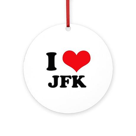 I Love JFK Ornament (Round)