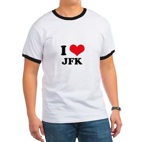 I Love JFK Ringer T