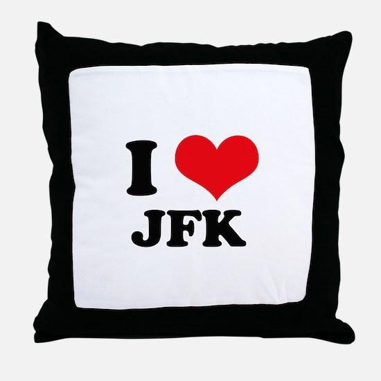 I Love JFK Throw Pillow