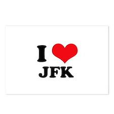 I Love JFK Postcards (Package of 8)