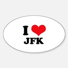 I Love JFK Oval Decal