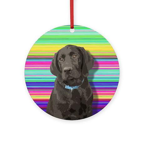 Frankie the Black Lab Puppy Keepsake (Round)